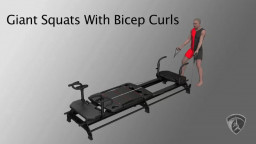 Giant Squats With Bicep Curls