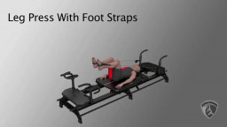 Leg Press With Foot Straps
