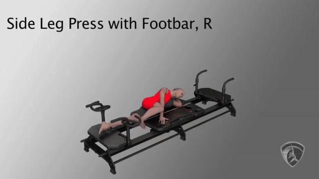 Side Leg Press with Footbar, R
