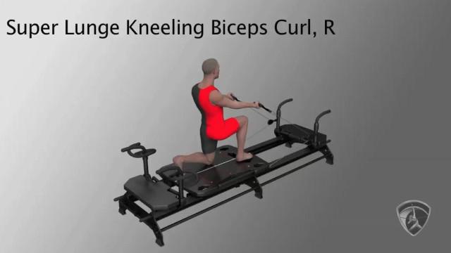 Super Lunge Kneeling Biceps Curl, R