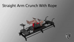 Straight Arm Crunch With Ropes