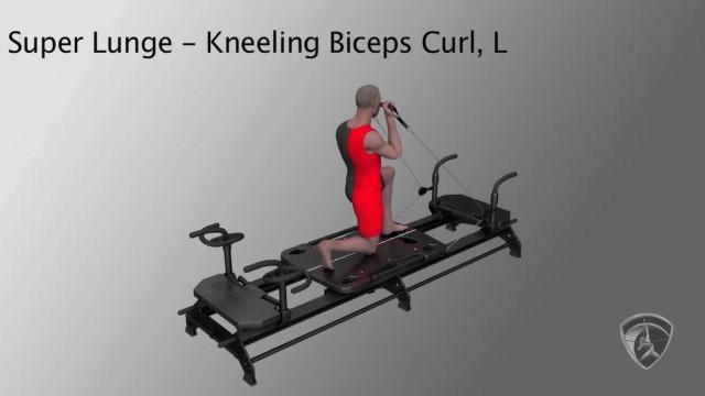 Super Lunge Kneeling Biceps Curl, L