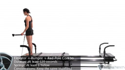Elevator Lunge with Bungee and Red Pole