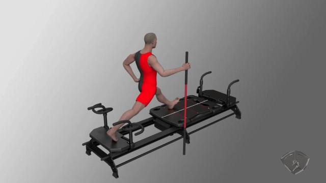 Escalator Lunge - Carriage Kicks, L