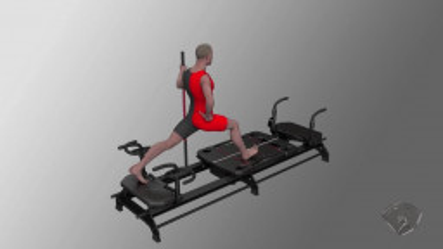 Escalator Lunge - Carriage Kicks, R