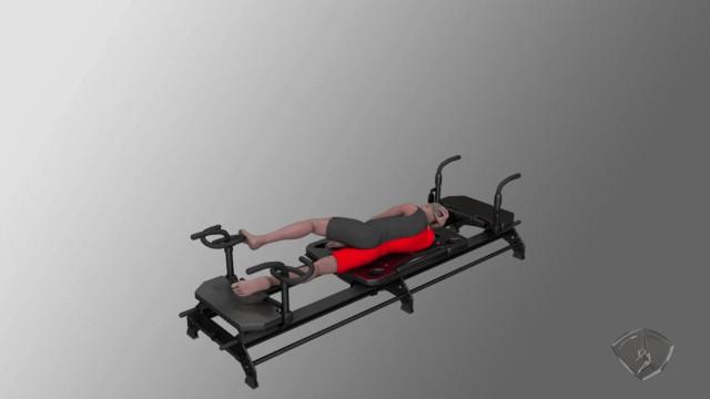 Side Leg Press With Footbar, L