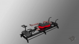 Side Leg Press With Footstraps, L